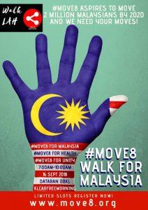Move8 Walkathon for Malaysia Day @ Dataran DBKL